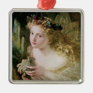 Beautiful Fairy Butterflies, Vintage Victorian Art Christmas Ornament