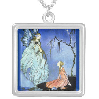 Beautiful Fairy by Virginia Sterrett Silver Plated Necklace