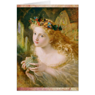 Beautiful Fairy Dreams Vintage Birthday Greeting Card