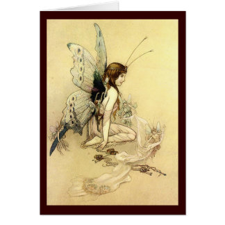 Beautiful Fairy Illustration  Greeting Card