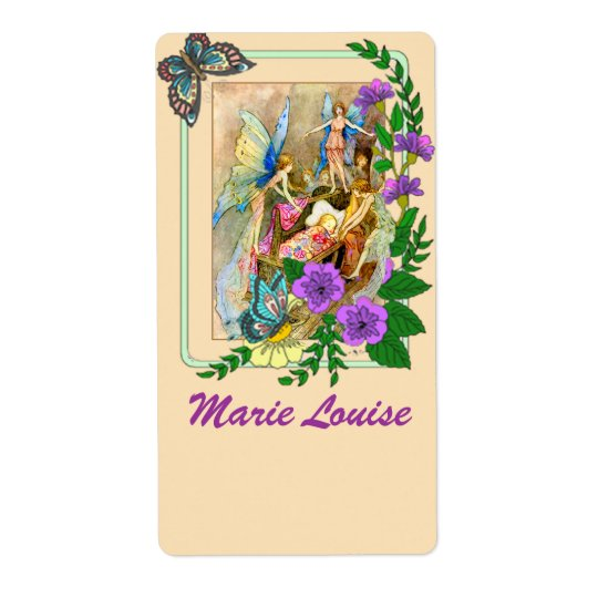 Beautiful Fairy Motif Nameplates /Bookplates Shipping Label