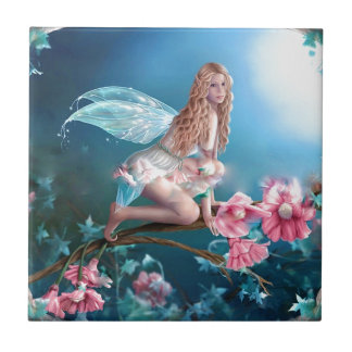 Beautiful Fairy Princess Small Square Tile