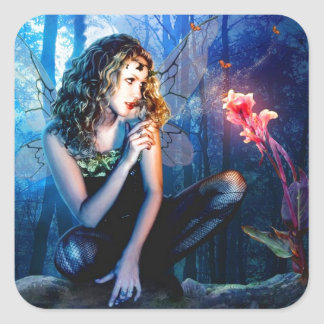 Beautiful Fairy Princess Square Stickers