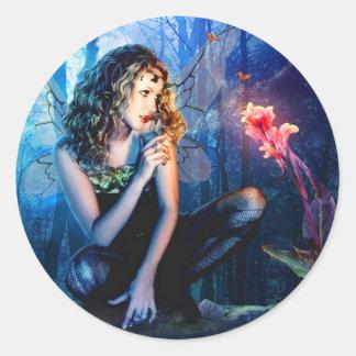 Beautiful Fairy Princess Round Sticker