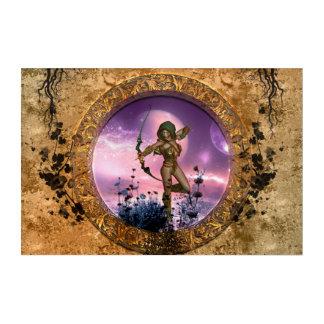 Beautiful fairy with arrow and bow acrylic wall art