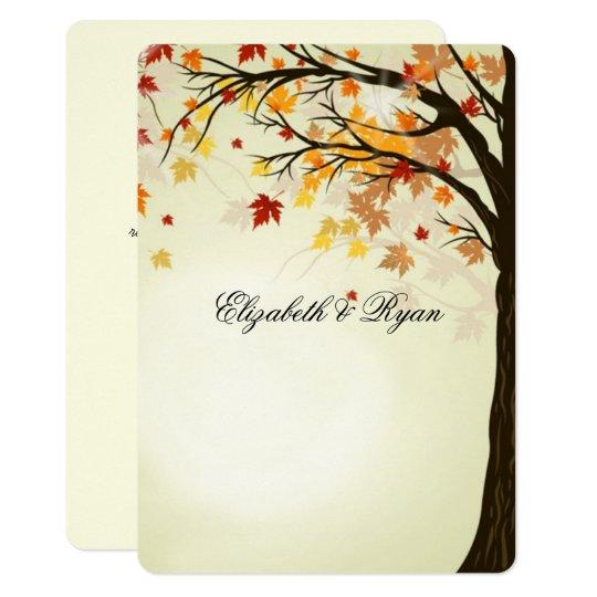 Beautiful Fall Colours, Autumn Wedding Card