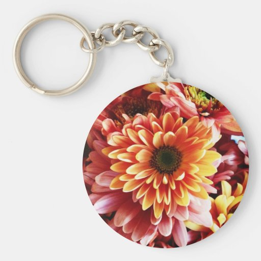 Beautiful Fall Floral Bouquet Design Gifts Key Chains