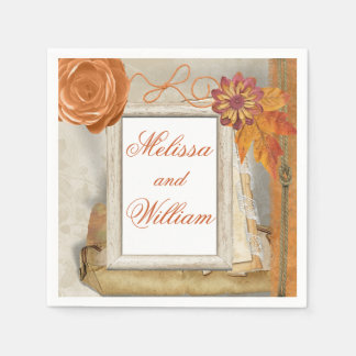 Beautiful Fall Wedding Disposable Serviette