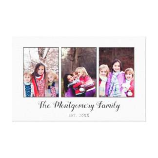 Beautiful Family Photo Collage Canvas Print