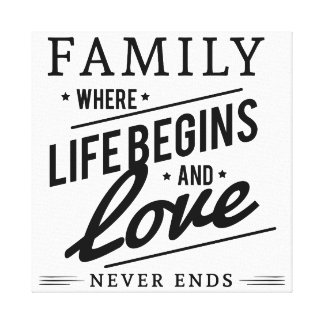 Beautiful Family Quote on Canvas