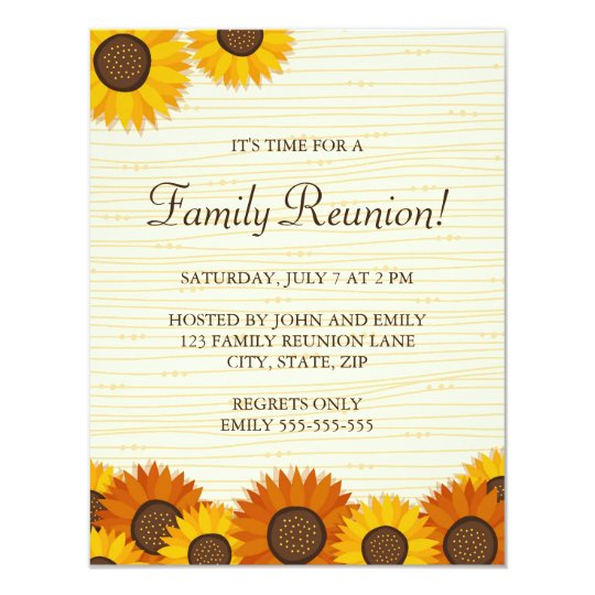 Beautiful family reunion party invitations