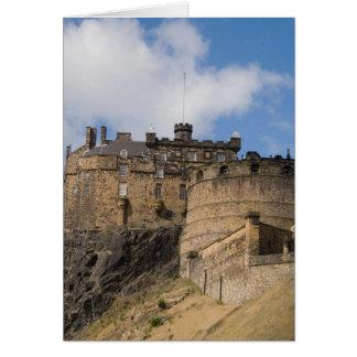 Beautiful famous giant Edinburgh Castle in Card