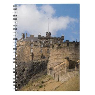 Beautiful famous giant Edinburgh Castle in Notebooks