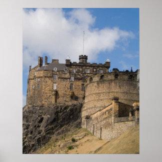 Beautiful famous giant Edinburgh Castle in Poster