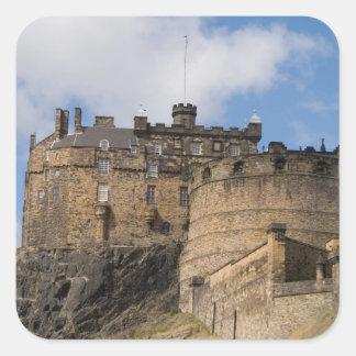 Beautiful famous giant Edinburgh Castle in Square Sticker