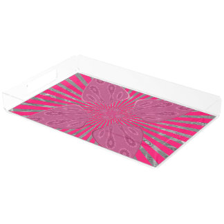 Beautiful Fantastic Feminine Design Acrylic Tray