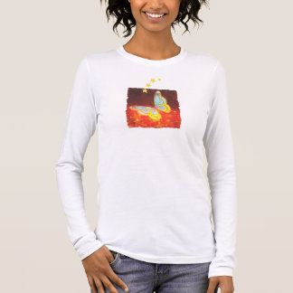 Beautiful Fantasy Butterfly Fireworks Collage Long Sleeve T-Shirt