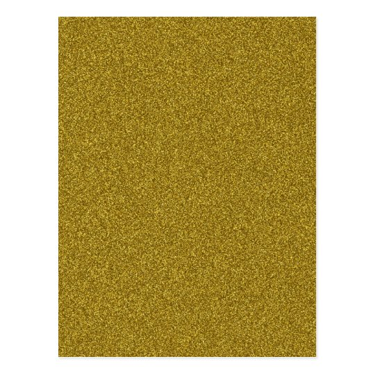 Beautiful fashinable girly yellow gold glitter postcard