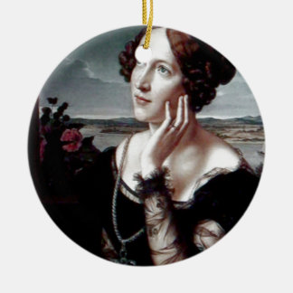 Beautiful Fashion woman Antique painting Christmas Tree Ornaments