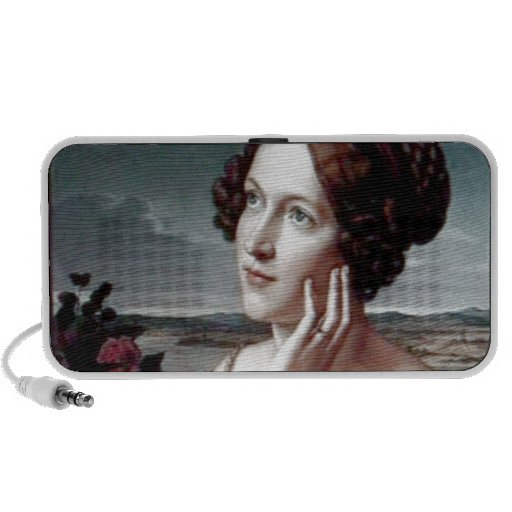 Beautiful Fashion woman Antique painting Travel Speakers