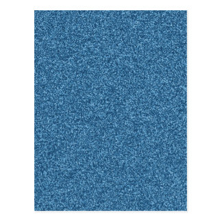 Beautiful fashionable girly blue glitter effect postcards