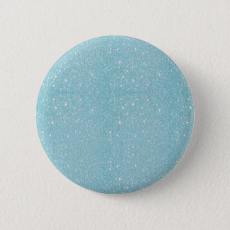 Beautiful fashionable soft blue glitter shinning 6 cm round badge