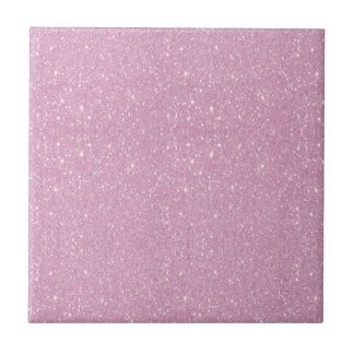 Beautiful fashionable soft purple glitter shinning small square tile