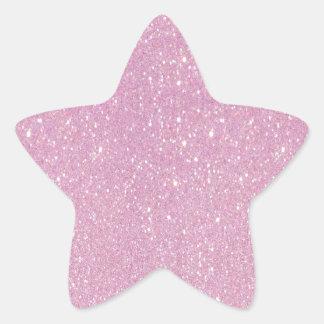 Beautiful fashionable soft purple glitter shinning star sticker