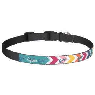 Beautiful faux glitter nautical anchor infinity pet collar