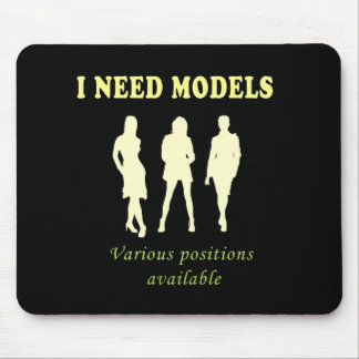 Beautiful female models mouse mat