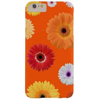 Beautiful Feminine Colorful Daisy on Bright Orange Barely There iPhone 6 Plus Case