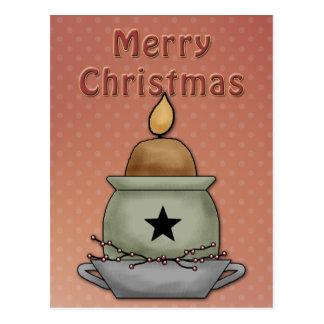Beautiful, festive candle design postcard