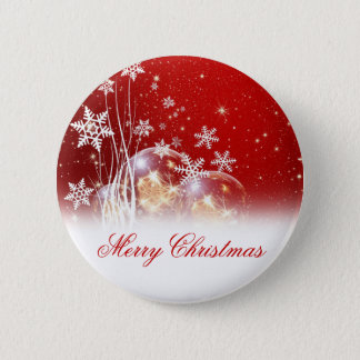 "Beautiful festive ""Merry Christmas"" illustration 6 Cm Round Badge"