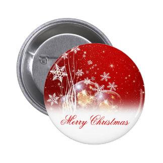 "Beautiful festive ""Merry Christmas"" illustration 6 Cm Round Badge"