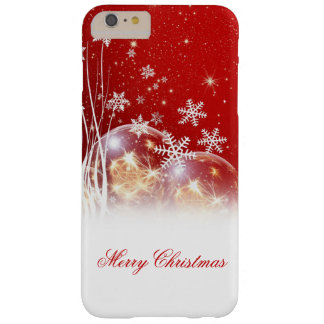 """Beautiful festive """"Merry Christmas"""" illustration Barely There iPhone 6 Plus Case"""