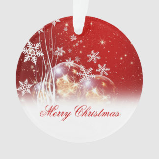 "Beautiful festive ""Merry Christmas"" illustration Ornament"