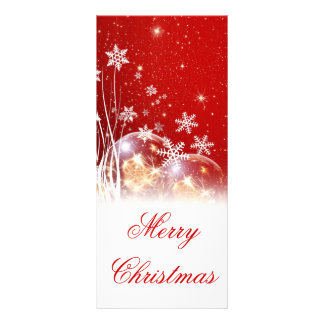 "Beautiful festive ""Merry Christmas"" illustration Rack Card"