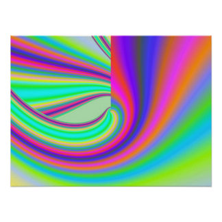 Beautiful fine art abstract digital fractal graphi print