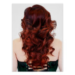 Beautiful Fire Ombre' Salon Poster