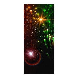 Beautiful firework 10 cm x 24 cm invitation card