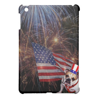 Beautiful Fireworks Celebration Bulldog Design iPad Mini Cases