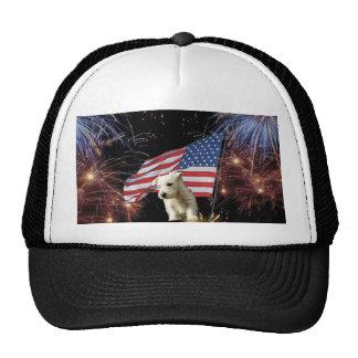 Beautiful Fireworks Celebration - Westie Design Hat