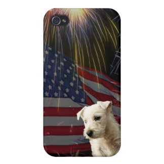 Beautiful Fireworks Celebration - Westie Design iPhone 4/4S Cover
