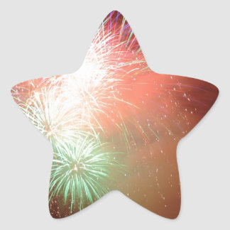 BEAUTIFUL FIREWORKS STAR STICKER