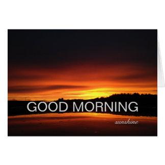 Beautiful Flame Orange Sunshine Good Morning Sky Greeting Card