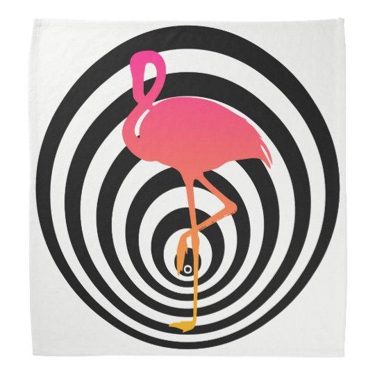 Beautiful flamingo in circles bandana