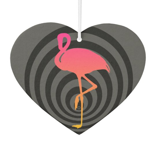 Beautiful flamingo in circles car air freshener
