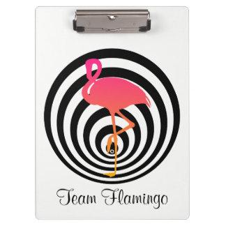 Beautiful flamingo in circles clipboard