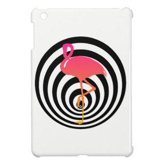 Beautiful flamingo in circles iPad mini cover