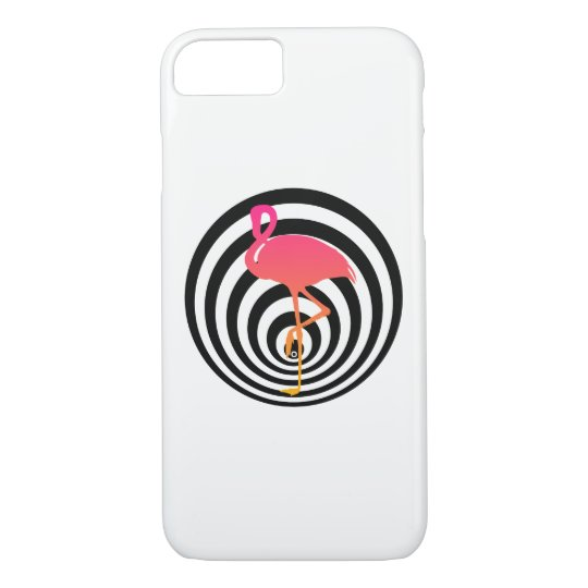 Beautiful flamingo in circles iPhone 8/7 case